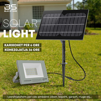 LED solar flood light 30W