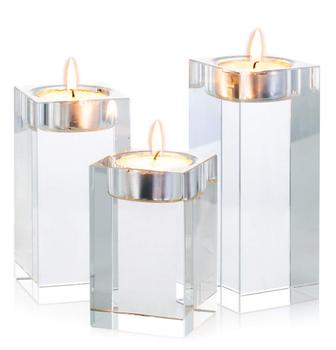 Crystal candle holder crystal md1