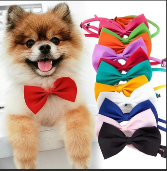 Dog bow tie polyester cotton