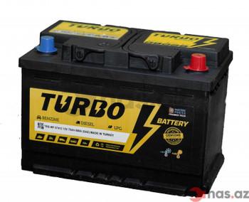 Bateri Makine TURBO 12v 75Ah