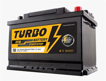 Bateri Makine TURBO 12v 60Ah