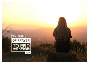 15 Days of Prayer to End Exploitation