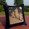 Howling Wolf Small Balsam Tapestry Pillow