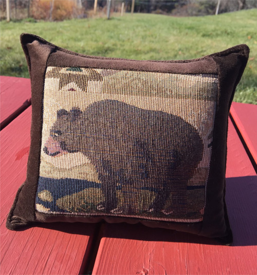Black Bear Large Balsam Tapestry Pillow