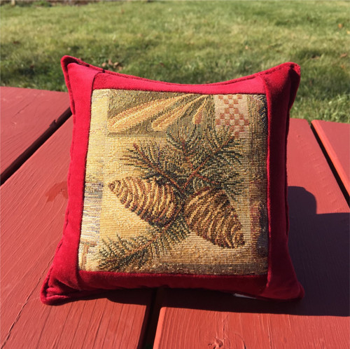 Scotch Pine Cone Large Balsam Tapestry Pillow