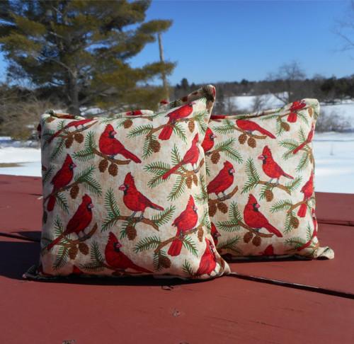 Flock of Cardinals Balsam Small Pillow