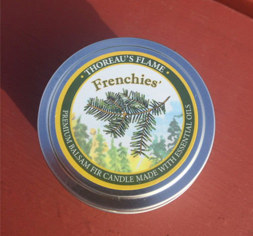 Thoreau's Flame Balsam Fir Essential Oil Soy Candle