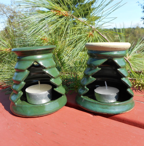 Evergreen Tree Ceramic Essential Oil Candle Warmer