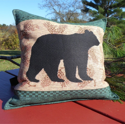 Black Bear XL Tapestry Balsam Pillow
