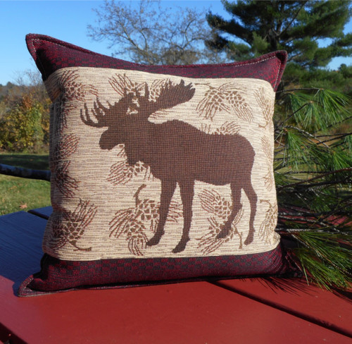 Moose XL Tapestry Balsam Pillow