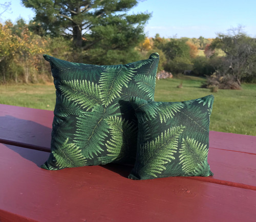 "Green Ferns balsam pillows, 7""x7"" or 5""x5"""