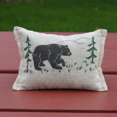 Forest Bear Natural Fabric Small Balsam Pillow