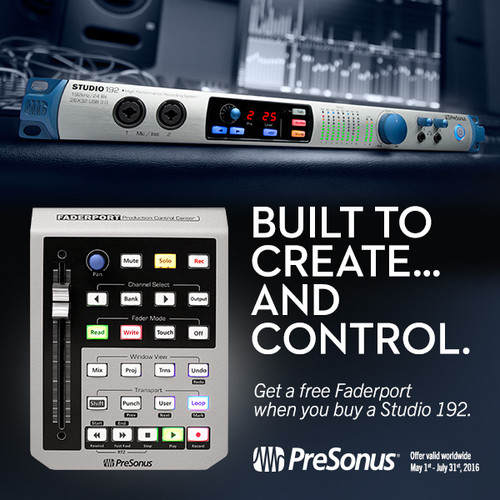 FREE FADERPORT when you buy a Studio 192