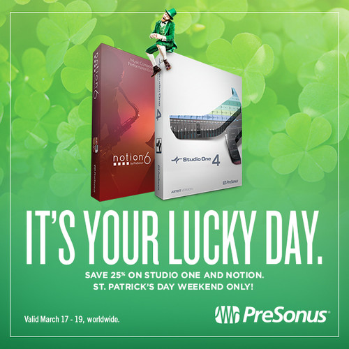 25% off Studio One - St. Patricks day specials