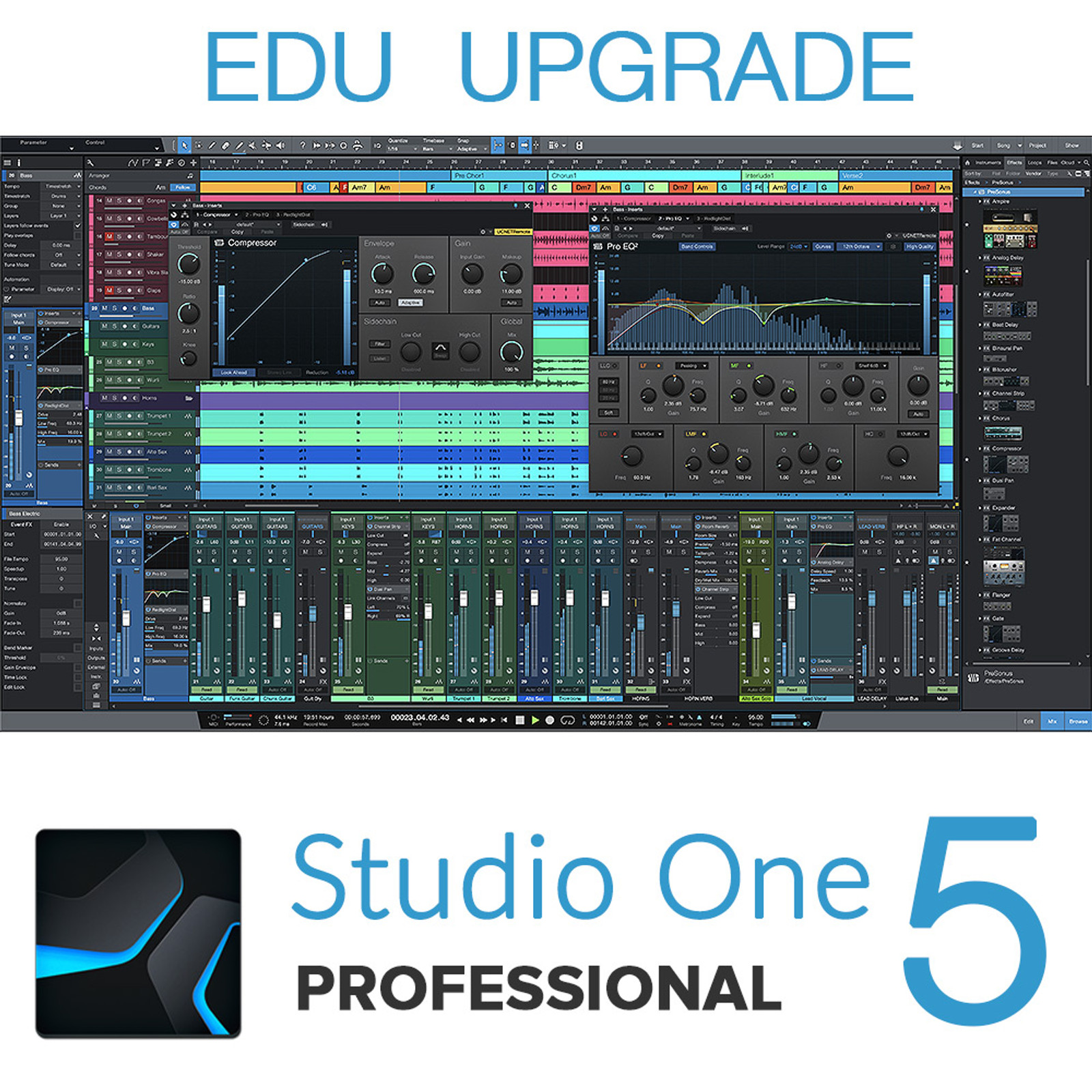 Studio One 5 EDU Pro to Pro Upgrade (from earlier versions of Pro)