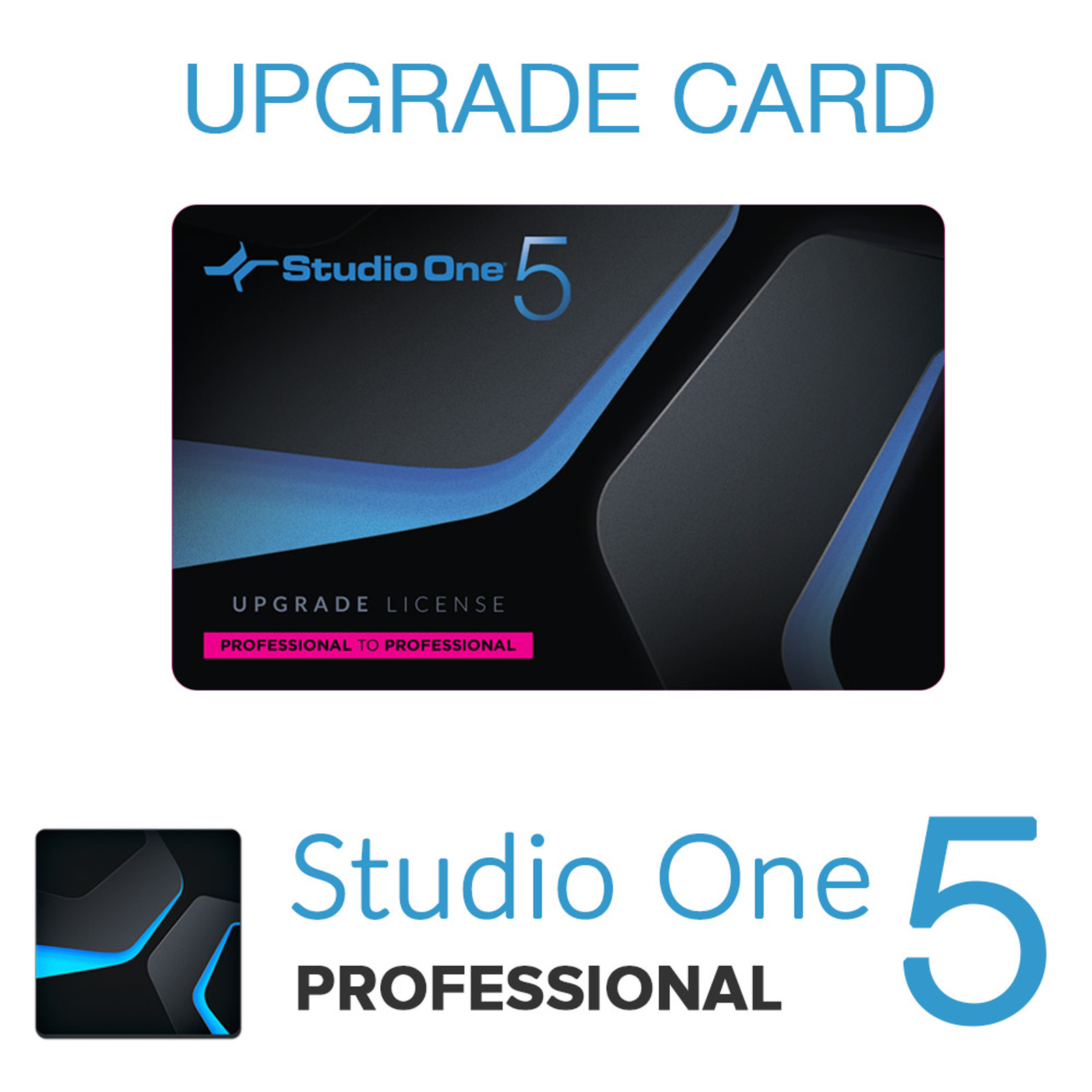 Studio One 5 Pro to Pro Upgrade Card
