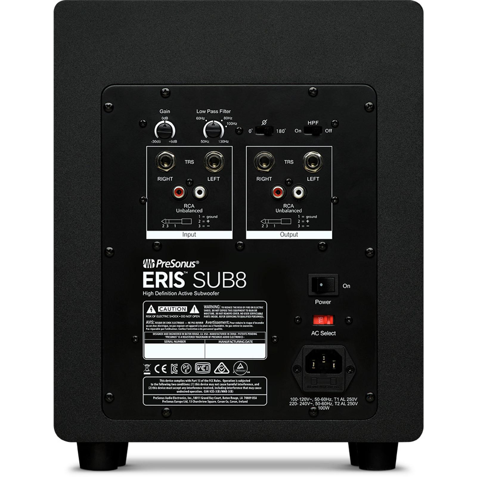 SUB8 Eris 8 inch Sub (each)