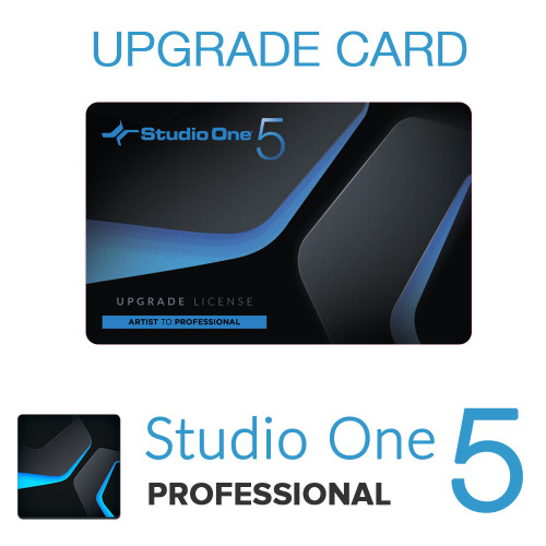 Studio One 5 Artist to Pro Upgrade Card