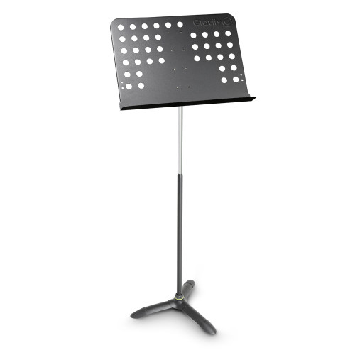 GRAVITY GNSORC2L TALL MUSIC STAND ORCHESTRA W/ PERFORATED STEEL DESK