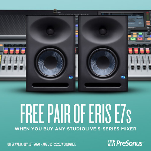 FREE E7XT's with StudioLive consoles
