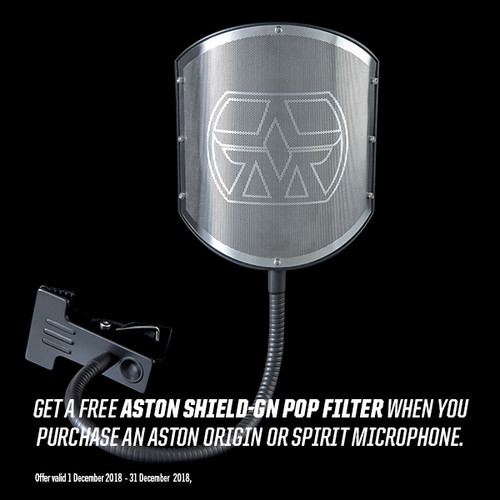 FREE SHIELD-GN pop filter with Origin or Spirit purchase