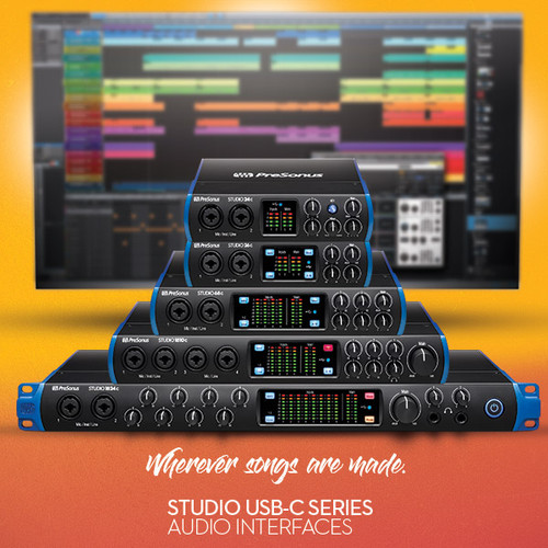 PreSonus announces USB-C series