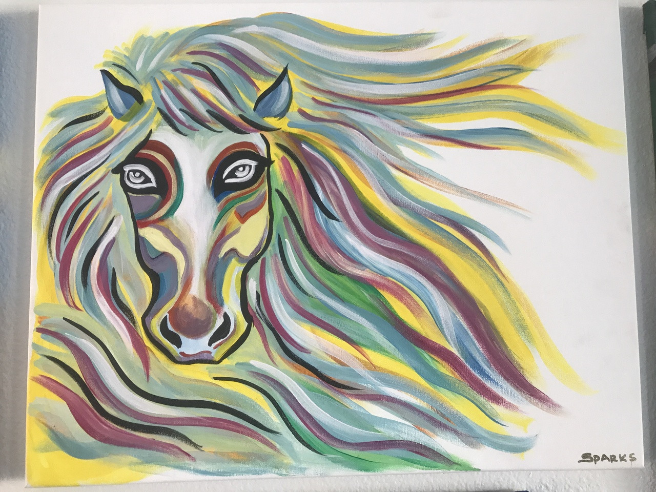 Rainbow Horse Painting Class Sparks Art Paint Party