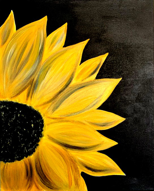 Sun Flower Painting Acrylic