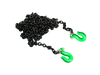 1/10 Black Chain with Green hooks