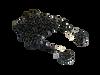 1/10 Black Chain with Black hooks