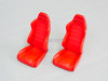 RC 1/10 Scale Accessories Red BUCKET SEATS