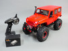 Custom Built 1/10 RC JEEP WRANGLER RUBICON V8 Rock Crawler 8.4V *RTR* Red