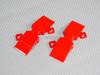 Rc Track Parts STRAIGHT SHORT Red Tetsujin Kerbs