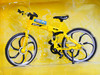 RC 1/10 Scale MOUNTAIN BIKE W/ Moving Parts yellow