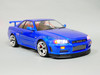 Custom RC 1/10 Drift NISSAN SKYLINE R34 AWD Belt CAR Blue RTR -S