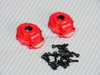 Traxxas TRX-4 Aluminum Portal Cover w/ Hardware RED (2 PC)