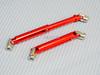 Universal METAL DRIVESHAFTS Lightweight Aluminum 100-150mm Driveshafts - RED -