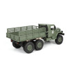 1/16 RC Military Truck 6x6 Offroad Truck LED + Suspension RTR Green