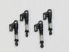 1/24 Axial SCX24 Upgrade METAL Suspension SHOCKS Aluminum 36mm (4) pcs BLACK