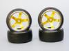 1/10 DRIFT Wheels 6MM Offset GOLD 5 Star  W/ Chrome LIP *4pcs*