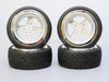 1/10 STREET Wheels Vintage 3MM Offset SILVER Work 4 Star W/ Chrome LIP *4pcs*