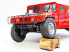 RC 1/10 HUMMER H1 4X4 SAFARI PACKAGE Truck Full Option 2-Speed + Sounds + LED *RTR* RED