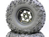 1/10 Truck Wheels 2.2  Aluminum RIMS + TIRES 140MM BLACK W/ Silver