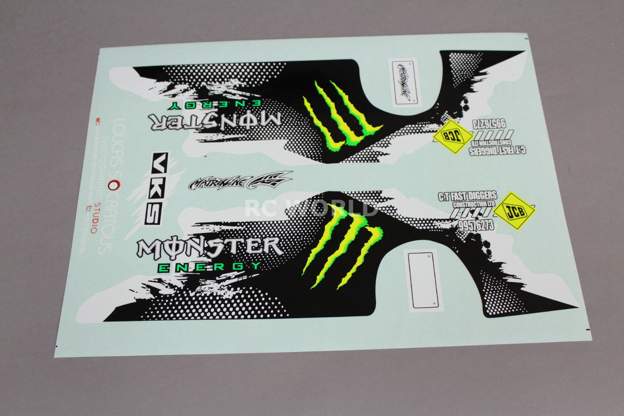 Rc Car Truck Racing Drift Decals Stickers Monster Energy Nissan 180 Logo Sponsor Rc World