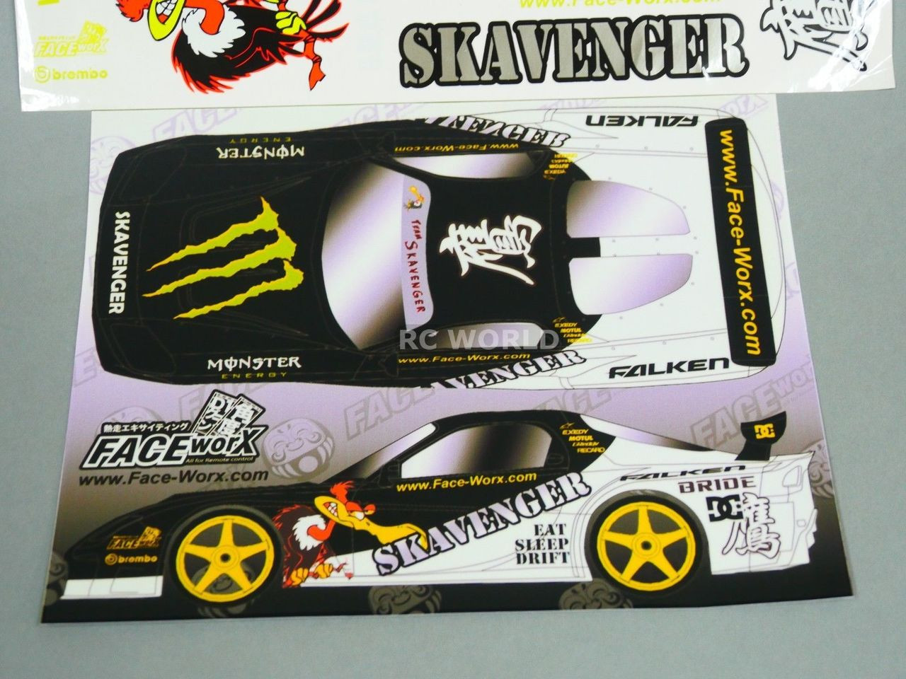 Rc 1 10 car drift decals skavenger condor drift decals stickers new rc world