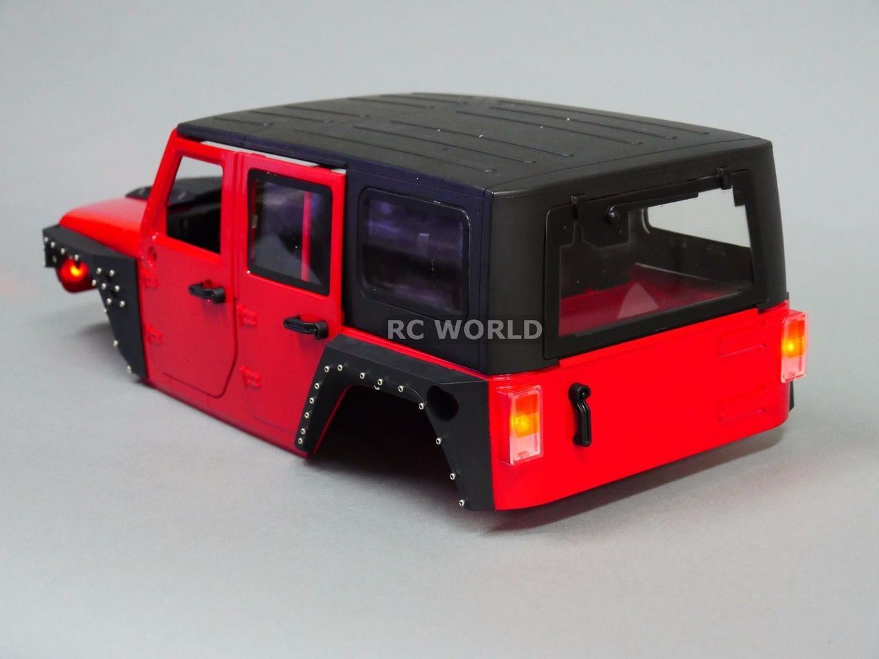 Rc Truck Body Shell 1 10 Jeep Wrangler Rubicon Hard Body V3 Metal Roof Cage Rc World