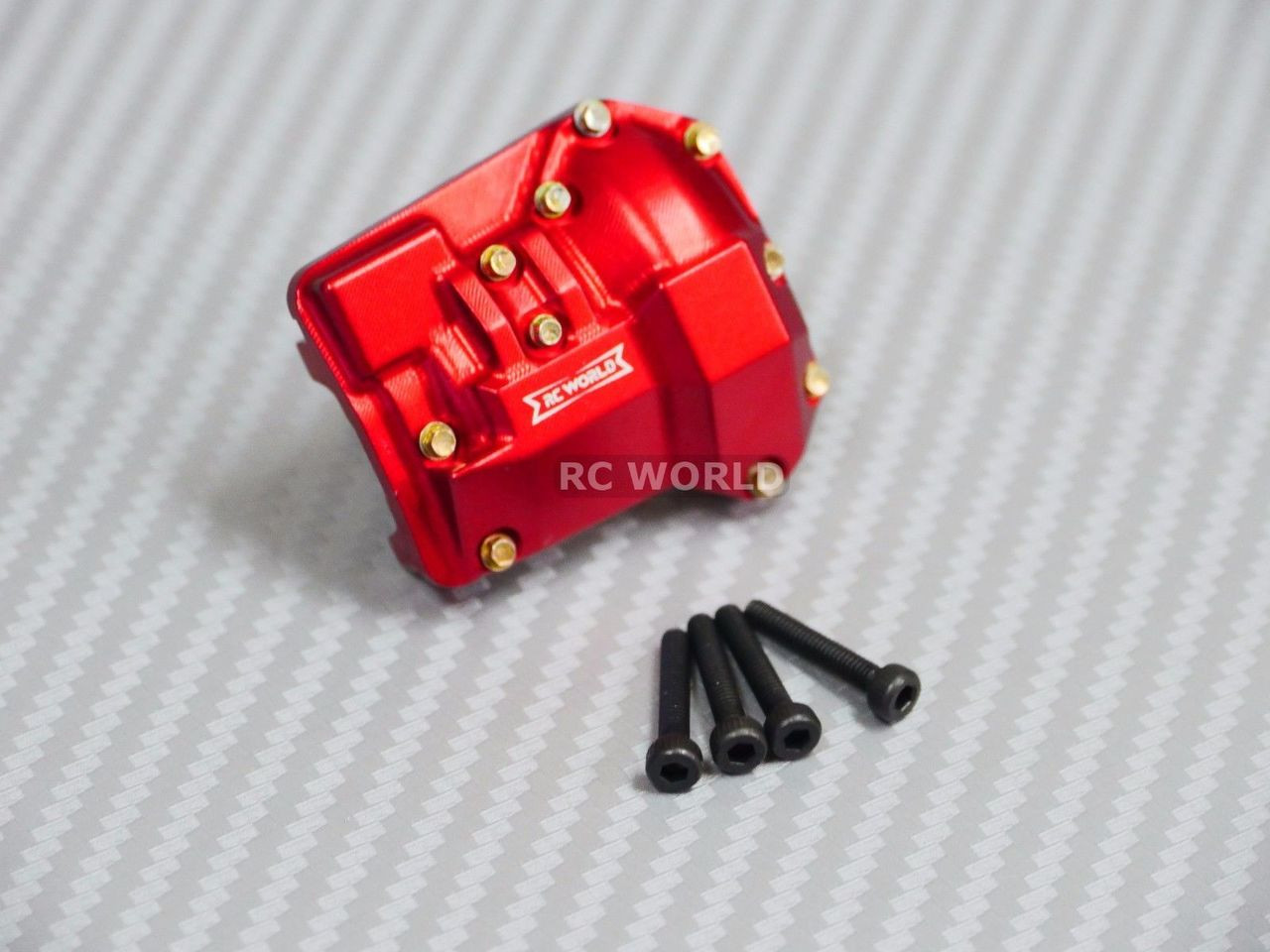 2Alloy Axle Diff Cover 40g ROT für Traxxas TRX4 RC Car Crawler Upgrade