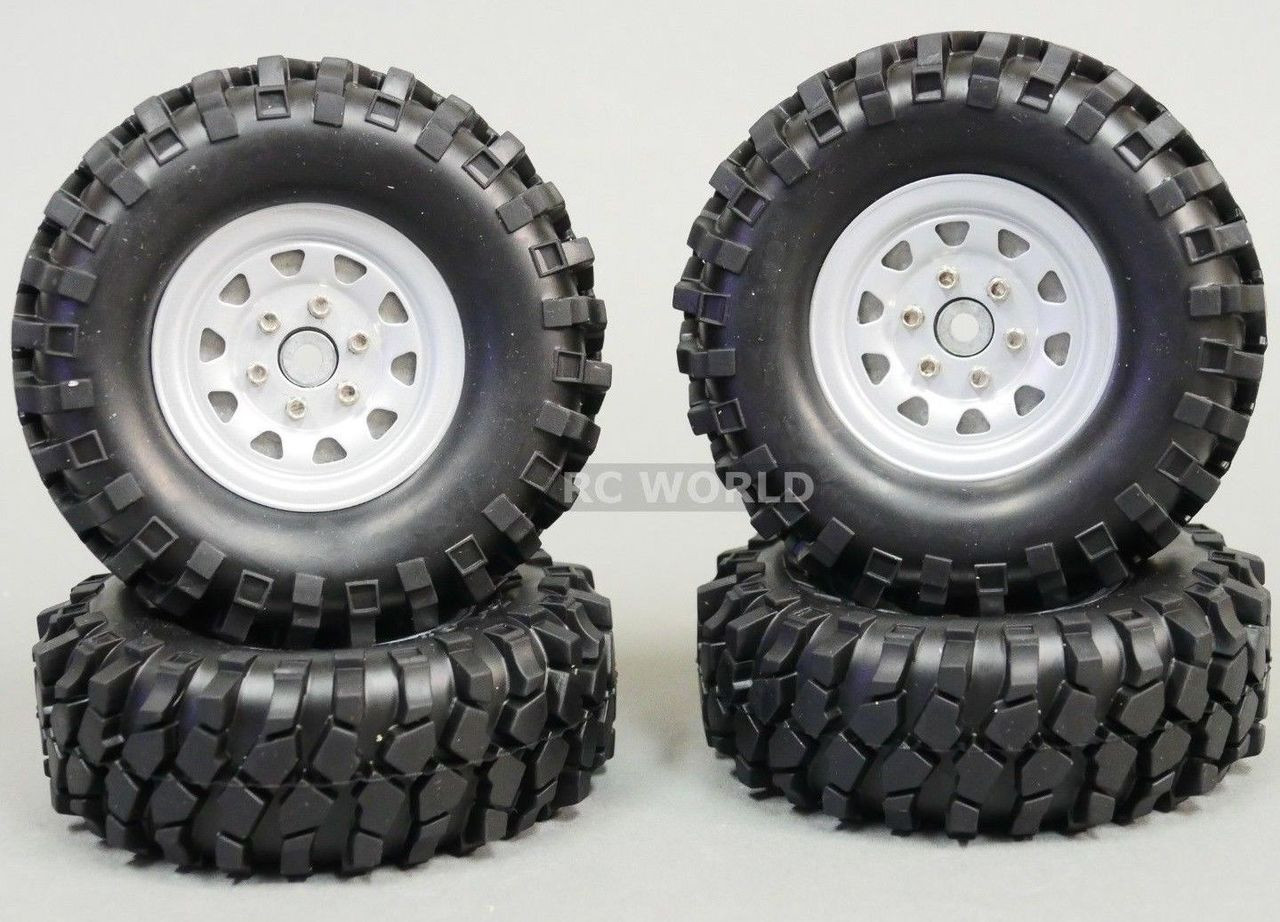 Truck Wheels And Tires >> Gmade 1 10 Scale Truck Rims 1 9 Steel Stamped Beadlock Wheels Silver