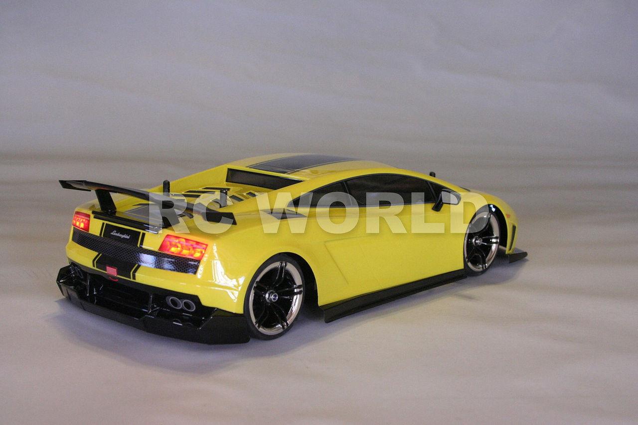 110 Rc Car Body Shell Lamborghini Gallardo 190 Mm Body W Light