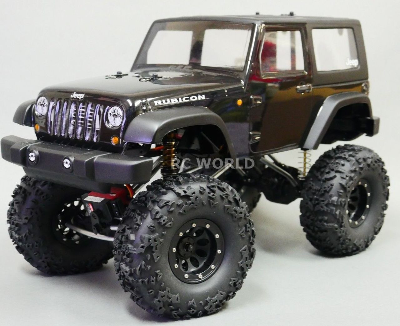 Jeep Rock Crawler >> Custom 1 10 Rc Jeep Wrangler Rubicon 4x4 2 2 Rock Crawler Rtr Black